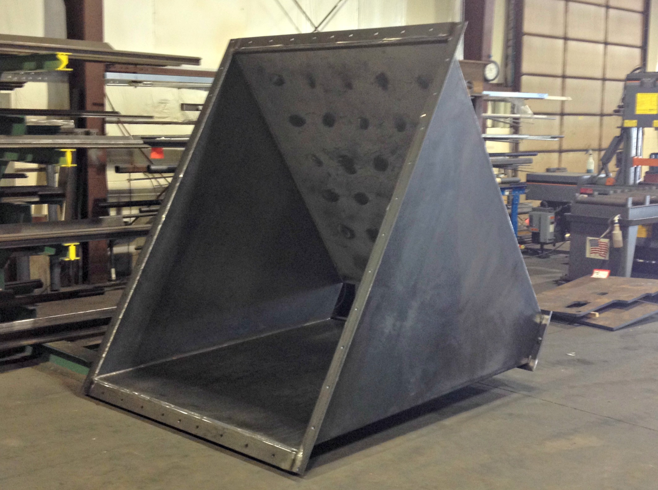 Stainless Steel Lined - Carbon Steel Hopper